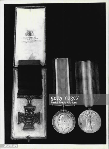 Victoria Cross in original presentation case World War I Medal and Victory MedalMedals for auction at Spink amp Son APA Building Martin Place...