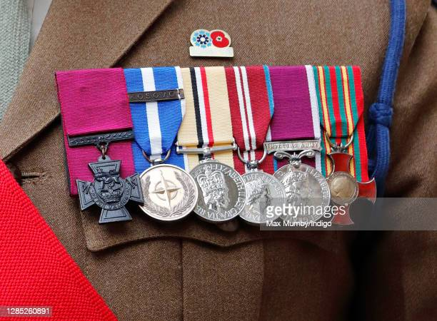 Victoria Cross recipient Colour Sergeant Johnson Beharry attends a service to mark the centenary of the burial of the Unknown Warrior at Westminster...