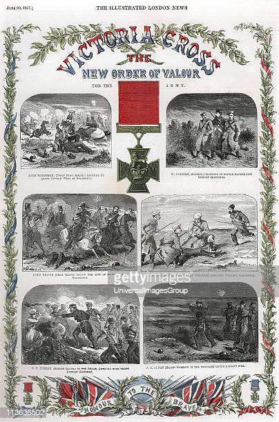 Victoria Cross reward for gallantry instituted 1856 for all ranks of British army and navy First conferred by Queen Victoria on 62 men June 1857...