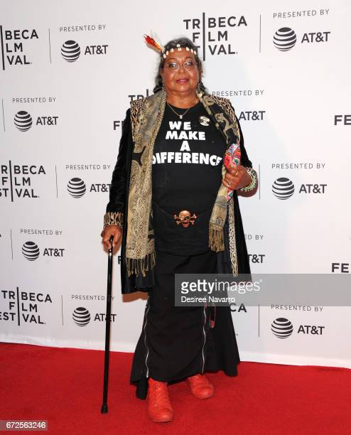 Victoria Cruz attends 2017 Tribeca Film Festival 'The Death And Life Of Marsha P Johnson' at Cinepolis Chelsea on April 21 2017 in New York City