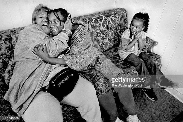 FILE Victoria Cummings gives a hug of thanks to Janet Burgess of Detroit in Bayview Virginia on December 23 1998 Burgess just gave Victoria and her...