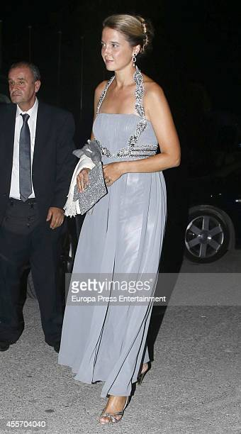 Victoria de BorbonDos Sicilias attends private dinner to celebrate the Golden Wedding Anniversary of King Constantine II and Queen Anne Marie of...