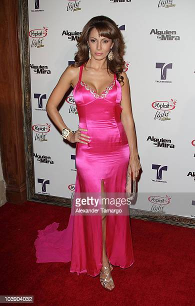 Victoria del Rosal attends screening of Telemundo's Alguien Te Mira at The Biltmore Hotel on September 7 2010 in Coral Gables Florida
