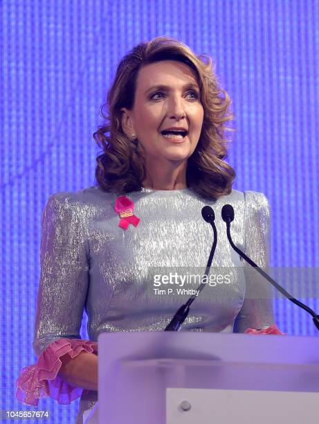 Victoria Derbyshire hosts the Breast Cancer Care London Fashion Show in association with Dorothy Perkins at Park Plaza Westminster Bridge Hotel on...
