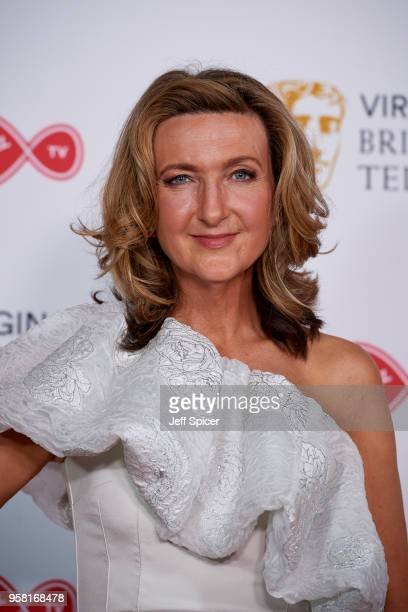 Victoria Derbyshire poses in the press room at the Virgin TV British Academy Television Awards at The Royal Festival Hall on May 13 2018 in London...