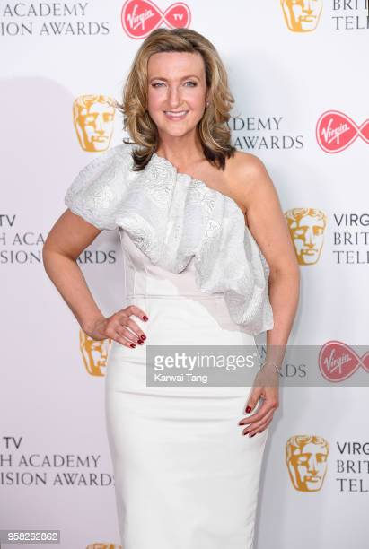 Victoria Derbyshire poses in the press room during the Virgin TV British Academy Television Awards at The Royal Festival Hall on May 13 2018 in...