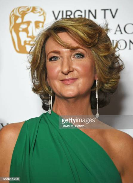 Victoria Derbyshire winner of the News Coverage award poses in the Winner's room at the Virgin TV BAFTA Television Awards at The Royal Festival Hall...