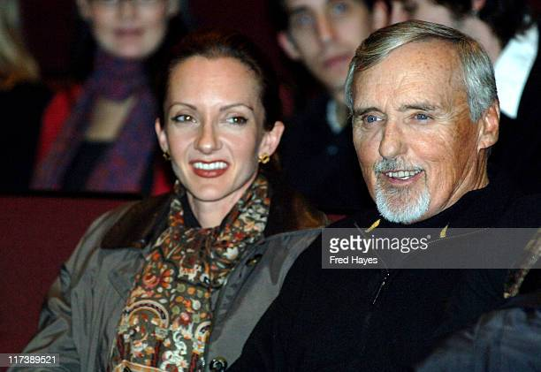 Victoria Duffy and Dennis Hopper during 2007 Sundance Film Festival Chicago 10 Opening Night Premiere at Eccles Theatre in Utah United States