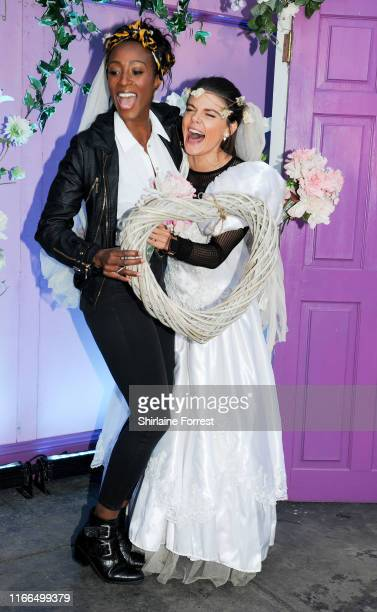 Victoria Ekanoye and Faye Brookes during FriendsFest 2019 at Heaton Park on August 06 2019 in Manchester England