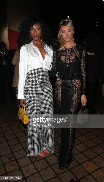Victoria Ekanoye and Megan McKenna seen attending ITV Palooza at Royal Festival Hall on November 12 2019 in London England