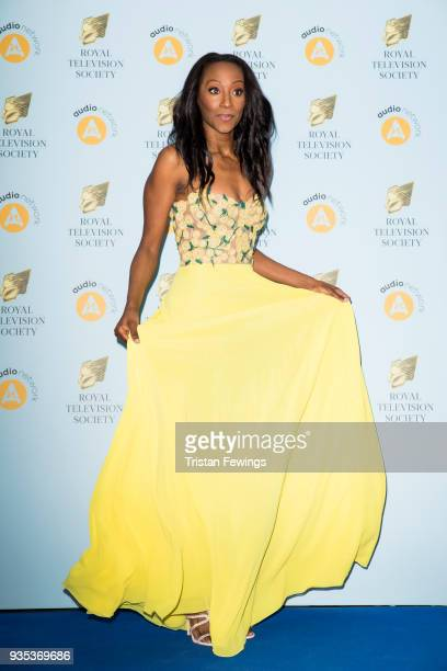 Victoria Ekanoye attends the RTS Programme Awards held at The Grosvenor House Hotel on March 20 2018 in London England