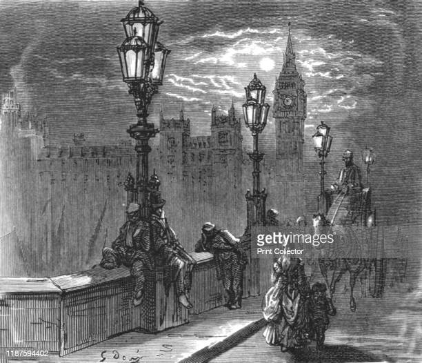 Victoria Embankment' 1872 Part of the Thames Embankment on the north bank of the River Thames construction began in 1865 and was completed in 1870...