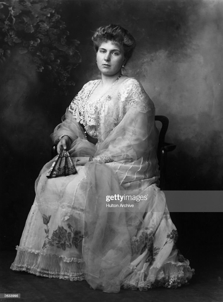 Victoria Eugene (Ena of the House of Battenberg ) ( 1887 - 1969), the grand-daughter of Queen Victoria who became the wife of Alfonso XIII, the King of Spain. Original Publication: People Disc - HL0049