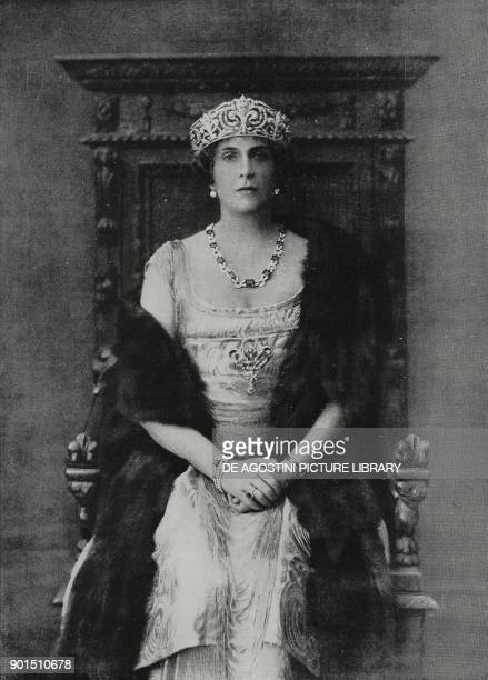 Victoria Eugenie of Battenberg Queen of Spain as wife of wife of King Alfonso XIII in the years 19061931 from L'Illustrazione Italiana year LVIII n...