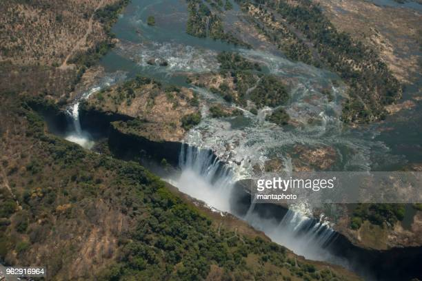 victoria falls aerial view - 4k resolution stock pictures, royalty-free photos & images