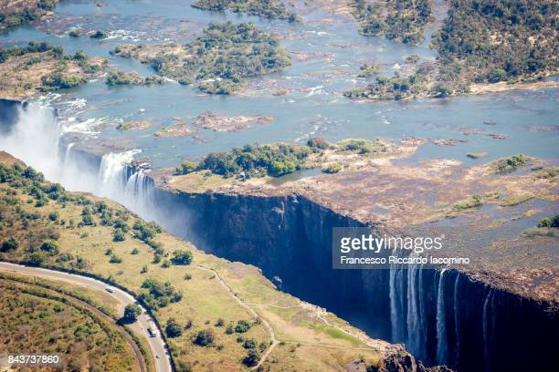 Victoria Falls, Aerial view, Zimbabwe, Africa