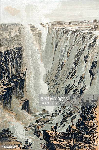 Victoria Falls Africa viewed from the east 1866 Scottish missionary and explorer David Livingstone was the first European to see the great falls on...