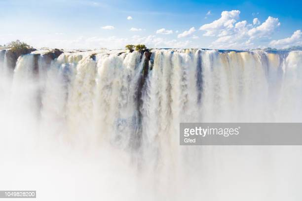 victoria falls from zambia - waterfall stock pictures, royalty-free photos & images