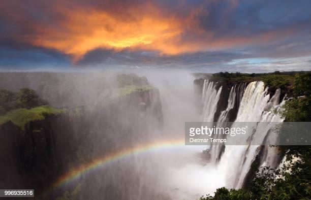 victoria falls, livingstone, zambia - dietmar temps stockfoto's en -beelden