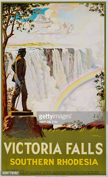 Victoria Falls - Southern Rhodesia Poster by A.W. Baylis