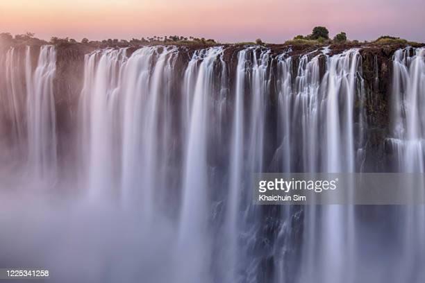 victoria falls zimbabwe - zambezi river stock pictures, royalty-free photos & images
