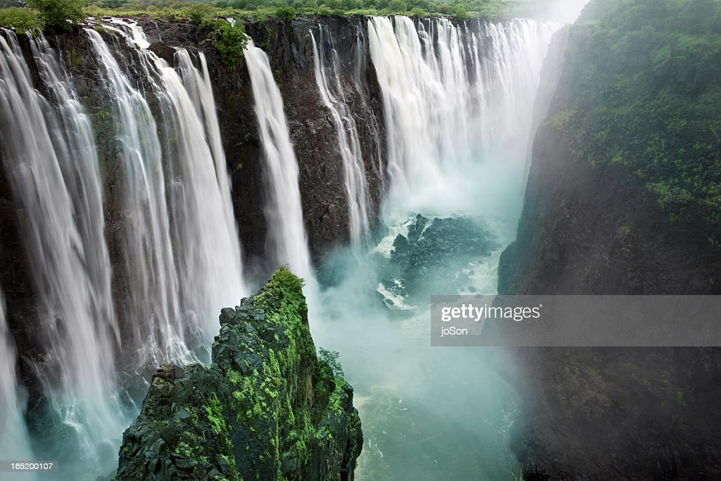 Victoria Falls Zimbabwe Southern Africa High Res Stock Photo