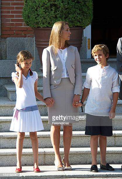 Victoria Federica Marichalar Princess Elena of Spain and Felipe Juan Froilan Marichalar meets Pope Benedict XVI during World Youth Day 2011...