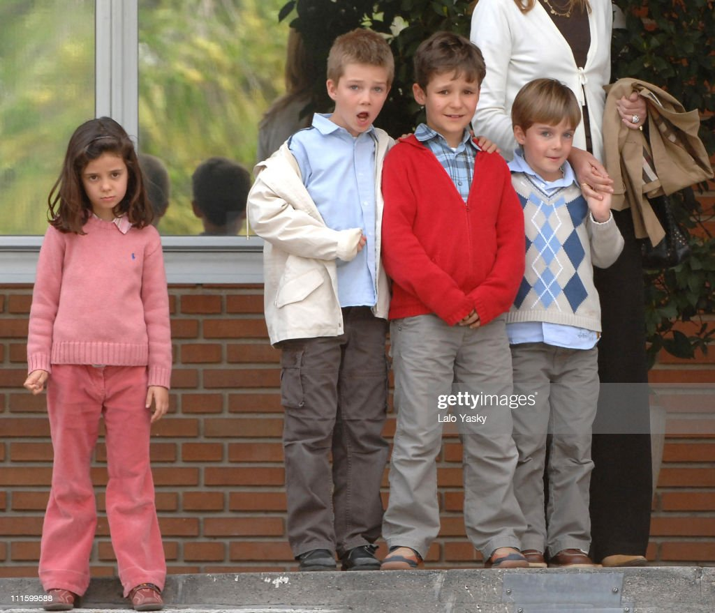 Young Royals Visit Princess Letizia and Baby Sofia at the Ruber Clinic in