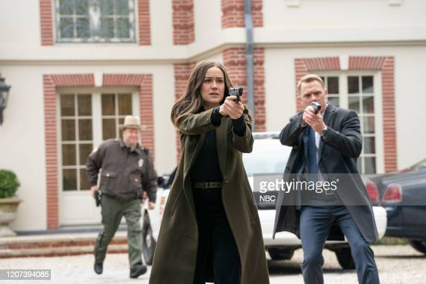 THE BLACKLIST Victoria Fenberg Episode 711 Pictured Megan Boone as Elizabeth Keen Diego Klattenhoff as Donald Ressler