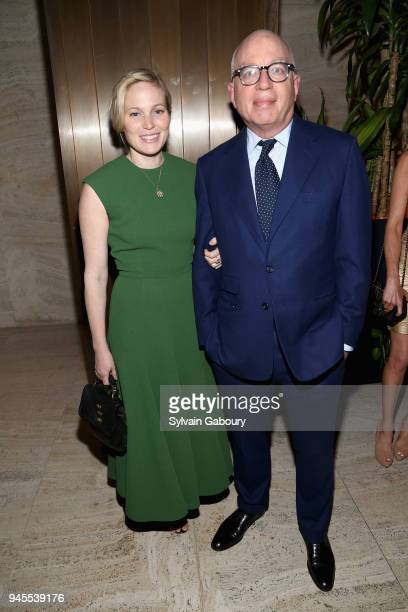 Victoria Floethe and Michael Wolff attend The Hollywood Reporter's Most Powerful People In Media 2018 at The Pool on April 12 2018 in New York City