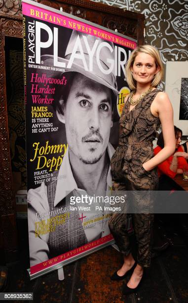 Victoria Fox at the Playgirl Magazine launch party at the Blanca Bar London