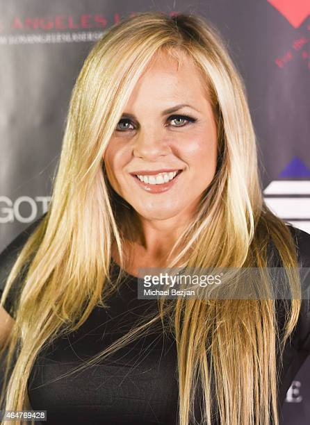 Victoria Fuller attends Caroline Burt DJs At Victoria Fuller's The Beauty Code Art Show at The Redbury Hotel on February 25 2015 in Hollywood...