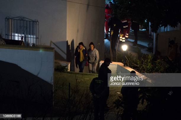 Victoria Garcia the mother of twoyearold Julen Rosello whose body was just found is seen in Totalan southern Spain on January 26 2019 Spanish...