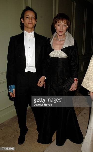 Victoria Getty and her son arrive at the Raisa Gorbachev Foundation Party at the Hampton Court Palace on June 2 2007 in Richmond upon Thames London...