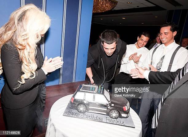 Victoria Gotii Gotti Agnello John Gotti Agnello and Carmine Agnello Jr attend the celebration of Frank Gotti's 21st birthday with the cast of Gotti...