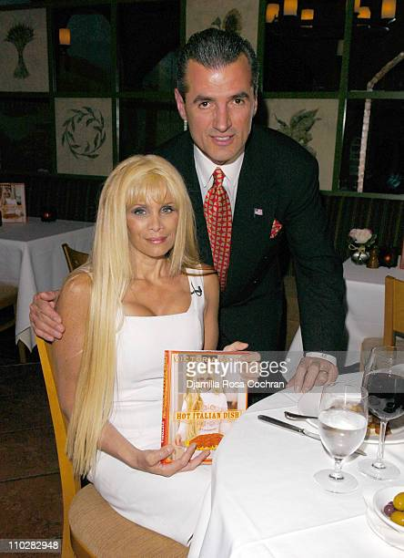 Victoria Gotti and Nino Selimaj during Victoria Gotti Celebrates the Launch of Her New Book Hot Italian Dish May 16 2006 at Nino's Restaurant in New...