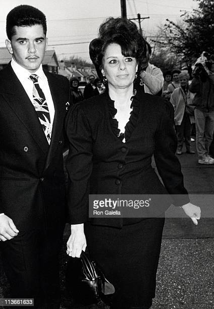 Victoria Gotti and Son Peter during Wedding of John Gotti Jr April 21 1990 at Gotti Home in Howard Beach Long Island New York United States