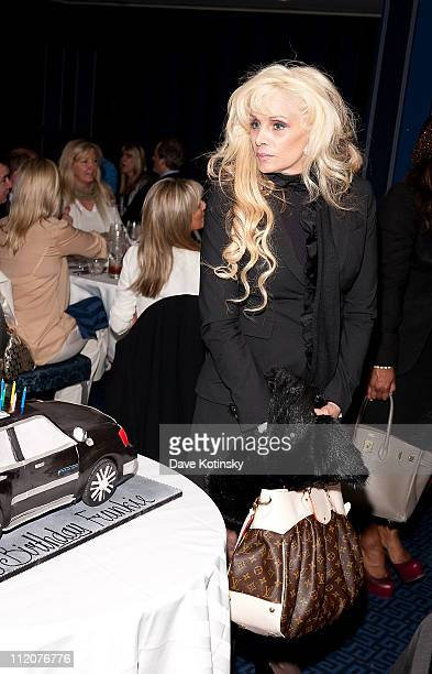 Victoria Gotti attends the celebration of Frank Gotti's 21st birthday with the cast of Gotti Three Generations at the Sheraton New York Hotel and...