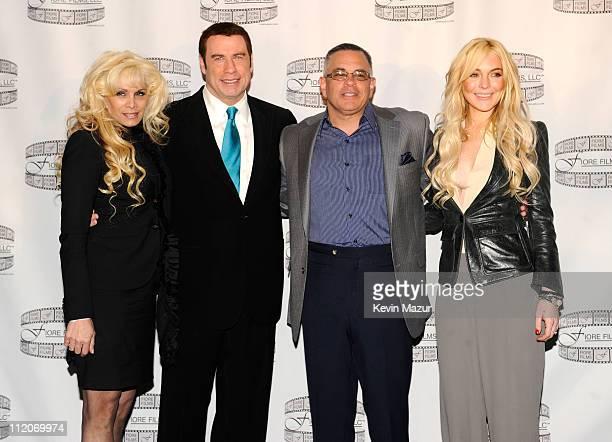 Victoria Gotti John Travolta John Gotti Jr and Lindsay Lohan attend the Gotti press conference at Sheraton New York Hotel Towers Central Park West...
