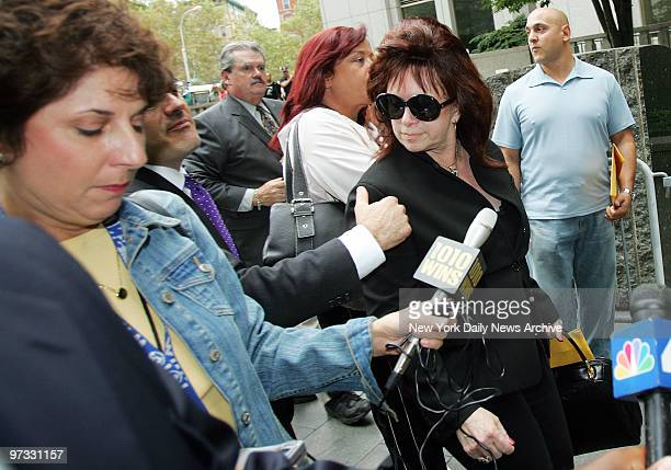 Victoria Gotti leaves Manhattan Federal Court after learning that her son John A Gotti would be released on bail Last week Gotti's racketeering trial...