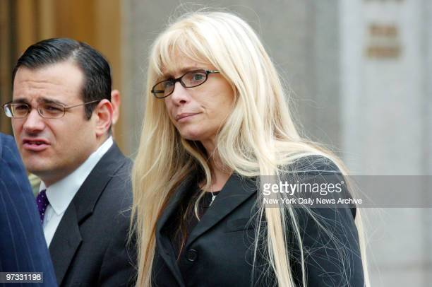 Victoria Gotti waits outside Manhattan Federal Court after learning that her brother John A Gotti would be released on bail Last week Gotti's...