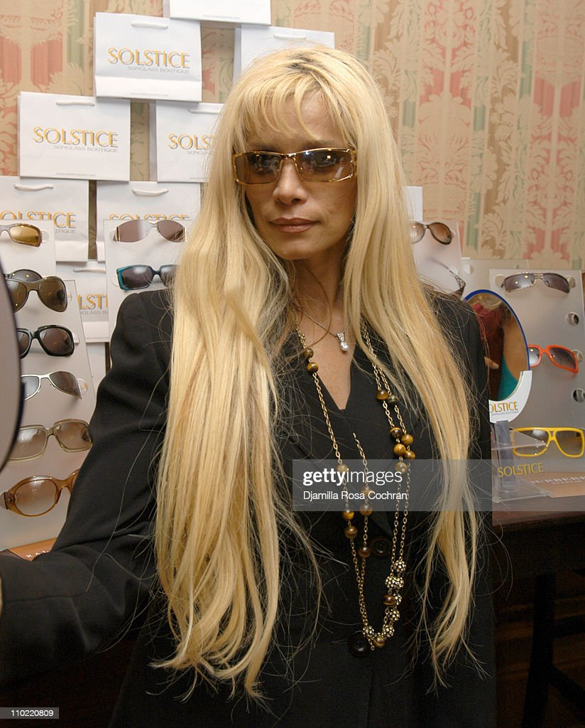 Victoria Gotti wearing Gucci 2574S Sunglasses during Solstice Sunglass Boutique at the Lucky/Cargo Club - Day 2 at Ritz Carlton in New York City, New York, United States.