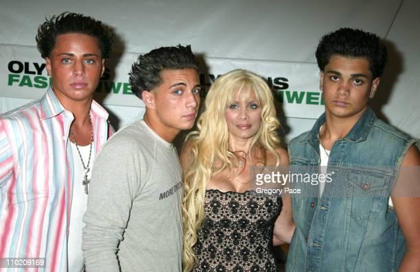 Victoria Gotti with her sons Carmine Gotti Agnello John Gotti Agnello and Frankie Gotti Agnello