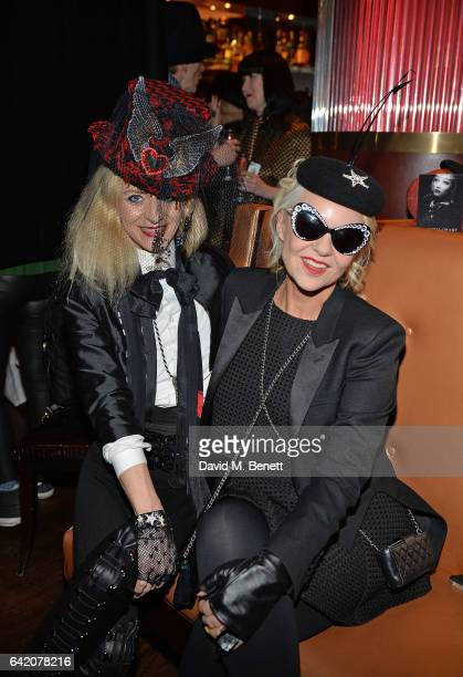 Victoria Grant and Amanda Eilasch attend the Victoria Grant x Diana Gomez 'Shoot It Up Knock'em Down' party at the Sanctum Soho on February 16 2017...