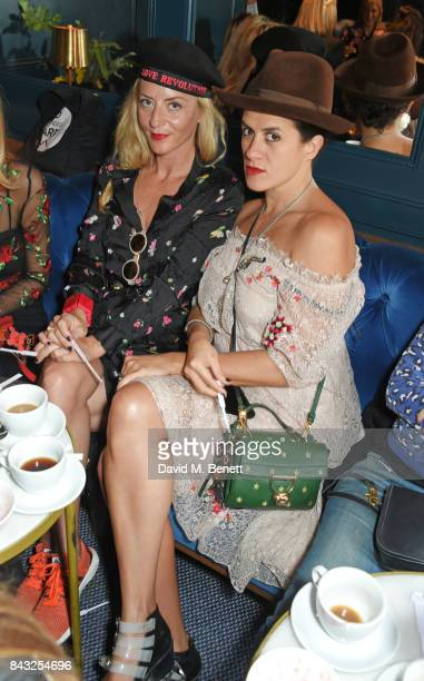 Victoria Grant and Diana Gomez attend a private breakfast hosted by Azzi Glasser to launch of new fragrance 'After Hours' created by The Perfumer's...