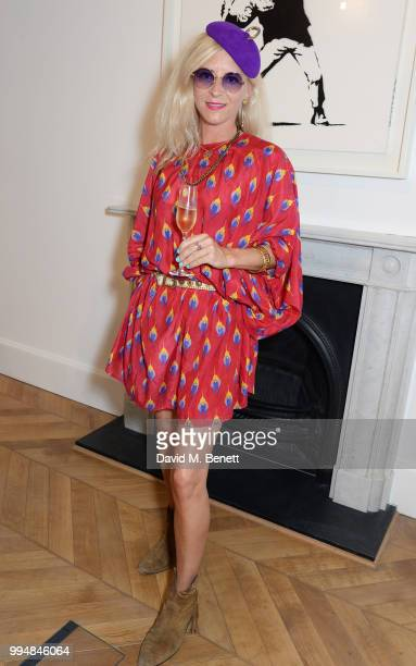 Victoria Grant attends the Bansky 'Greatest Hits 20022008' exhibition VIP preview at Lazinc on July 9 2018 in London England