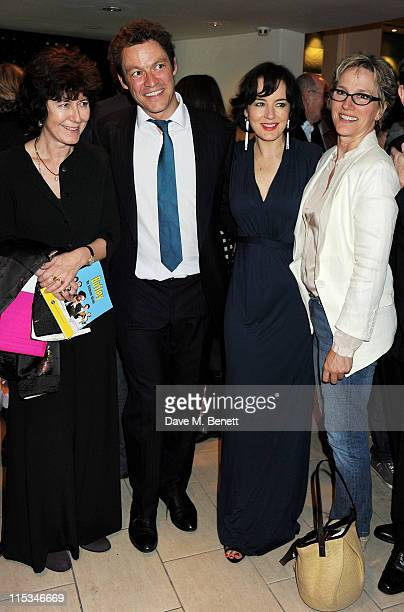 Victoria Gray, Dominic West, Amanda Drew, and Penny Downie attend an after party following press night of the new West End production of Simon Gray's...