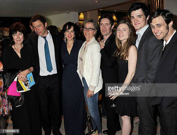 Victoria Gray, Dominic West, Amanda Drew, Penny Downie, Paul McGann, Emma Hiddleston, Cai Brigden and Martin Hutson attend an after party following...