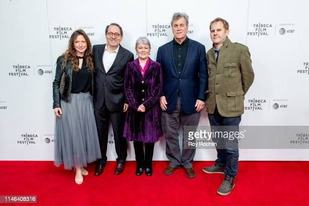 """Victoria Gregory, Michael Barker, Tracy Edwards, Tom Bernard and James Erskine attend a screening of """"Maiden"""" during the 2019 Tribeca Film Festival..."""