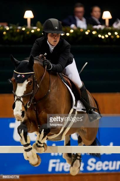 Victoria Gulliksen attends during CSI Casas Novas Horse Jumping Competition on December 10 2017 in A Coruna Spain